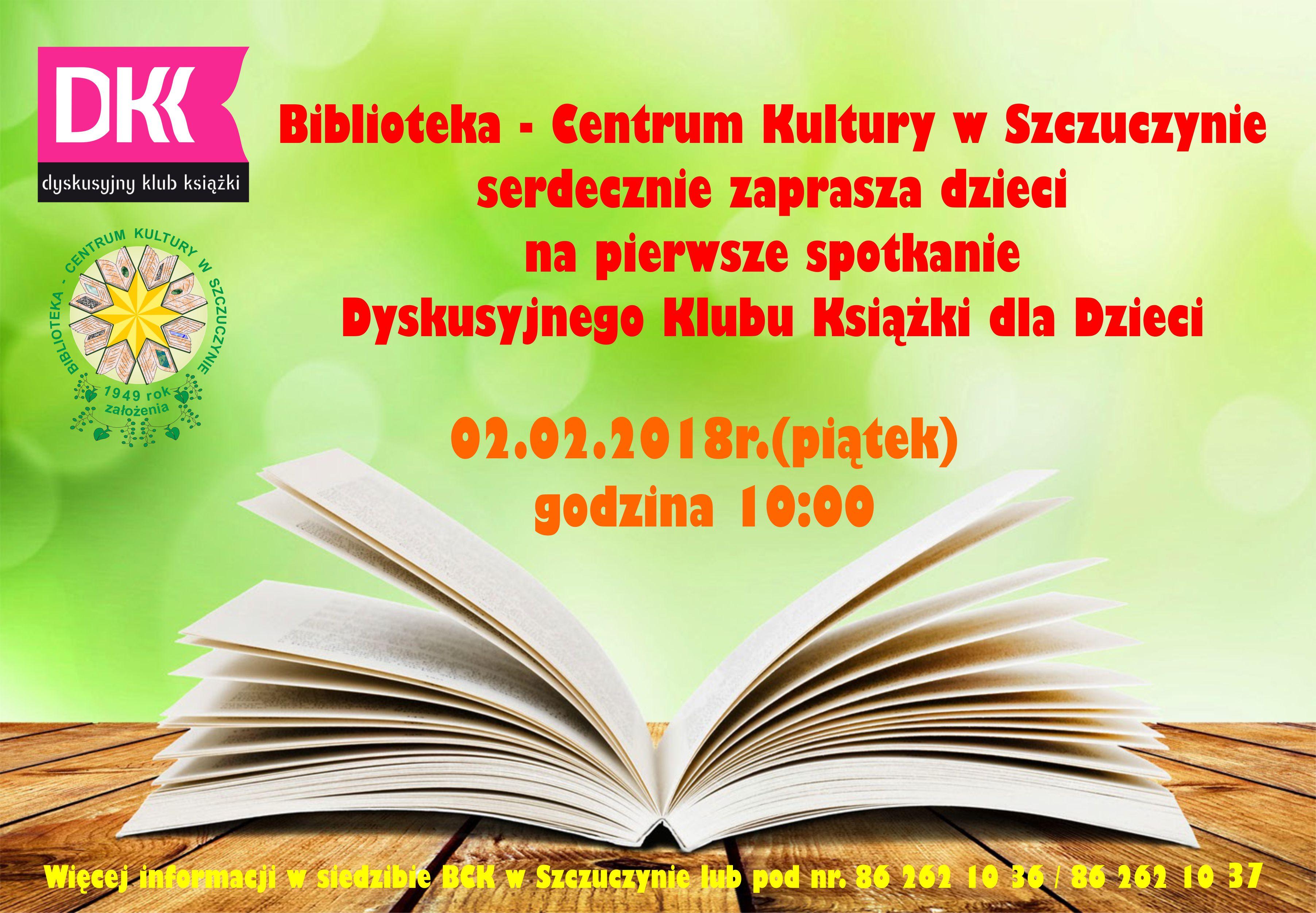 Dyskusyjny Klub Książki dla Dzieci w BCK w Szczuczynie