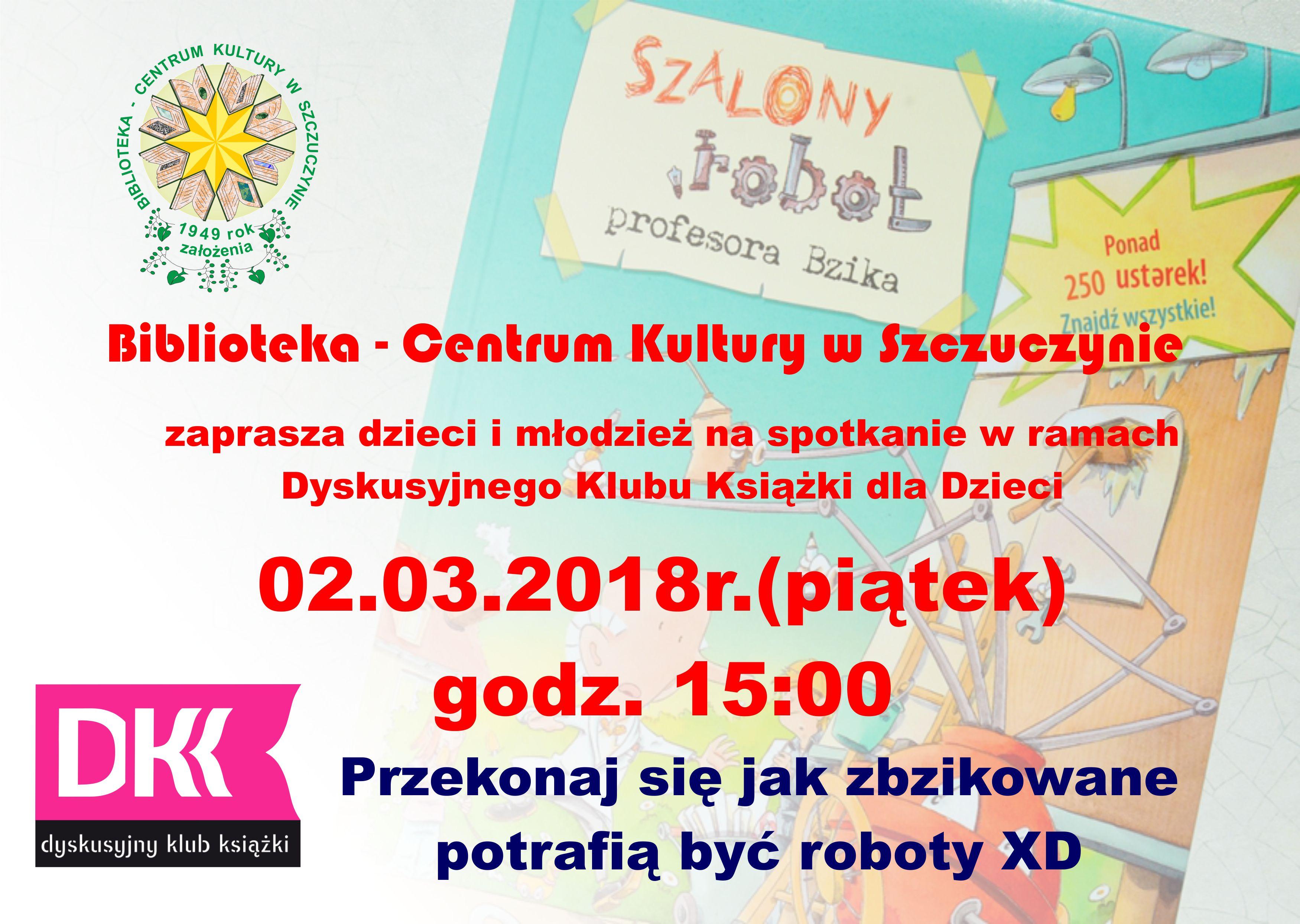 Drugie spotkanie Dyskusyjnego Klubu Książkowego dla Dzieci