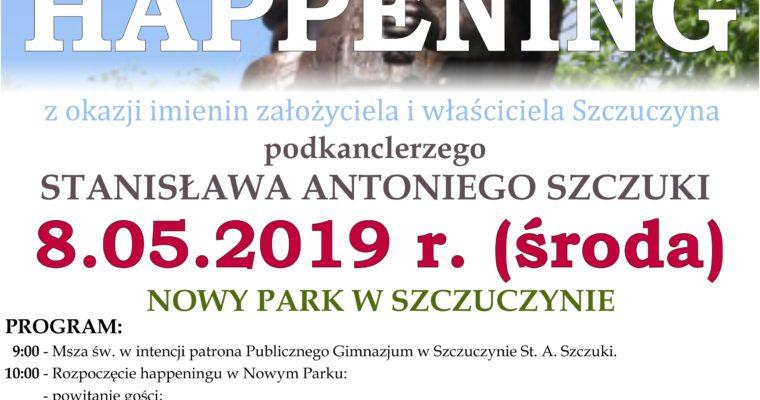 Happening z okazji imienin założyciela i właściciela Szczuczyna podkanclerzego Stanisława Antoniego Szczuki