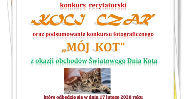 KOCI CZAR – konkurs recytatorski