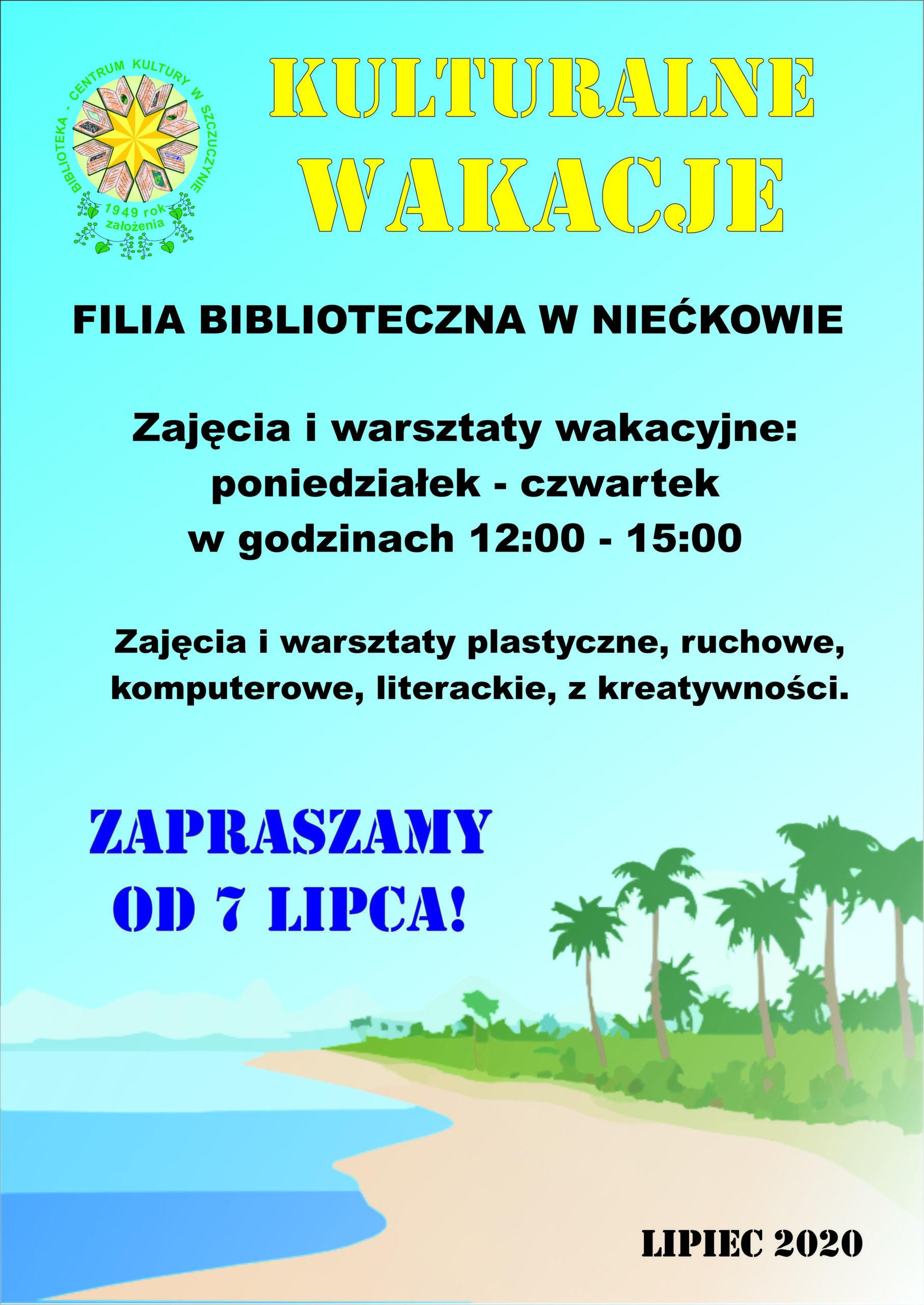 Kulturalne Wakacje z filią biblioteczną w Niećkowie