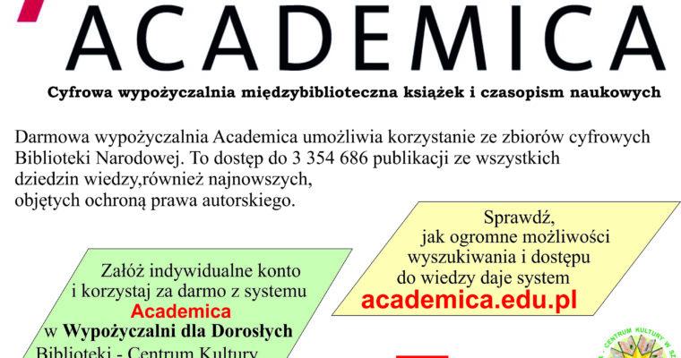 """Cyfrowa wypożyczalnia """"Academica"""""""